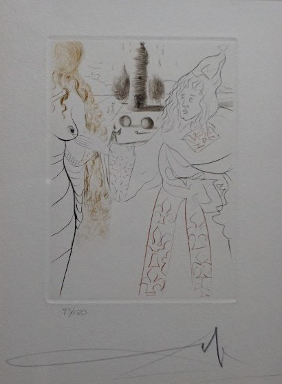 Le Decameron La Femme Adultere 1972 (Early) Limited Edition Print by Salvador Dali