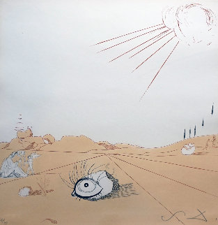 Neuf Paysages Espace Paysage From Cobea  1980 Limited Edition Print - Salvador Dali