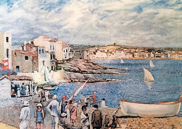 Llaner Beach in Cadaques Limited Edition Print - Salvador Dali