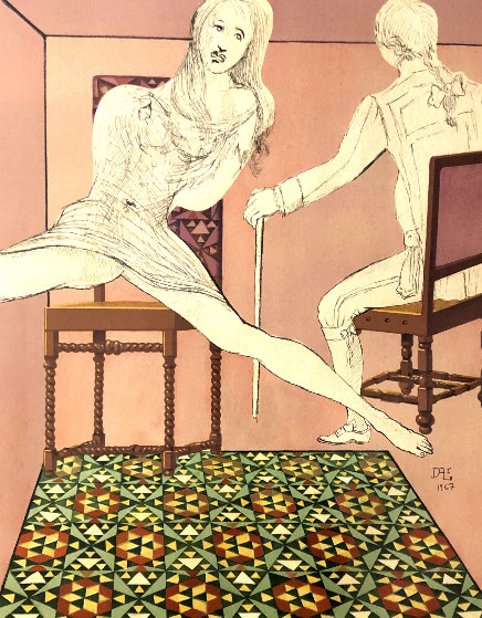 Marquis de Sade Marianne and the Chevalier 1969 Limited Edition Print by Salvador Dali