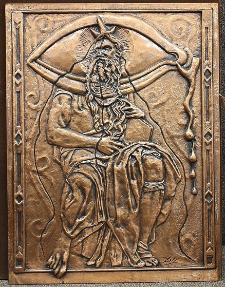 Bas Relief Dali Moses And Monotheism Bronze  Sculpture 1979 28 in by Salvador Dali