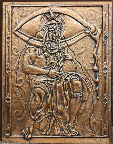 Bas Relief Dali Moses And Monotheism Copper  Sculpture 1979 28 in Sculpture by Salvador Dali