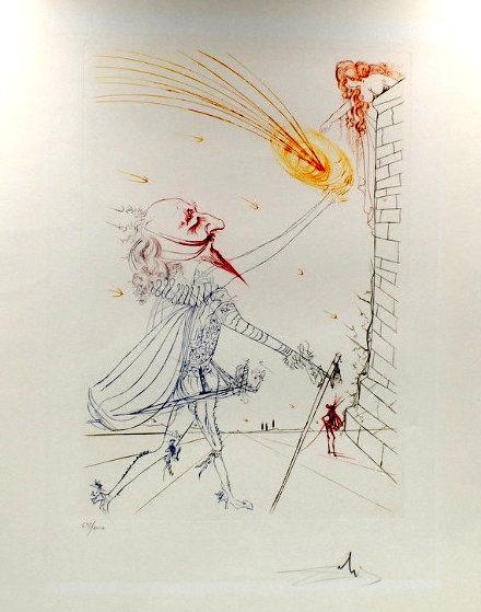 Cyrano De Bergerac and Roxane 1972  by Salvador Dali