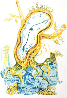 Stillness of Time: Tree Clock 1976 Limited Edition Print - Salvador Dali