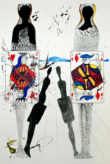 Queen's Croquet Ground: Alice in Wonderland 1984 Limited Edition Print by Salvador Dali