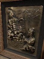 Ten Commandments Gold Bas Relief Sculpture 1979 25 in Sculpture by Salvador Dali - 3