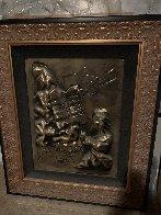 Ten Commandments Gold Bas Relief Sculpture 1979 25 in Sculpture by Salvador Dali - 2