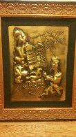 Ten Commandments Gold Bas Relief Sculpture 1979 25 in Sculpture by Salvador Dali - 1