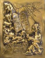 Ten Commandments Gold Bas Relief Sculpture 1979 25 in Sculpture by Salvador Dali - 0