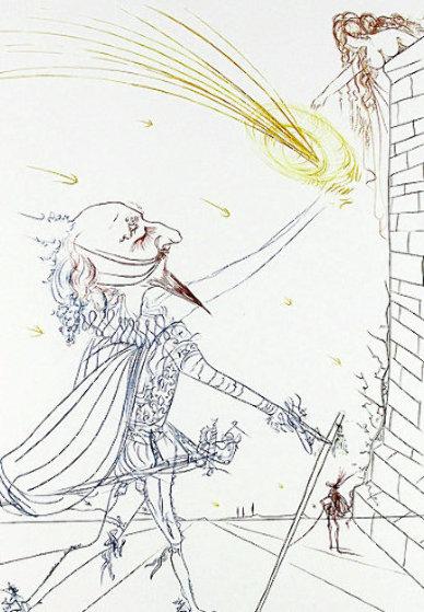 Cyrano De Bergerac And Roxanne 1972 Limited Edition Print by Salvador Dali