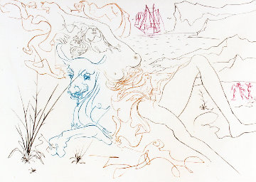 Famous Loves Suite: The Bull 1972  Limited Edition Print by Salvador Dali