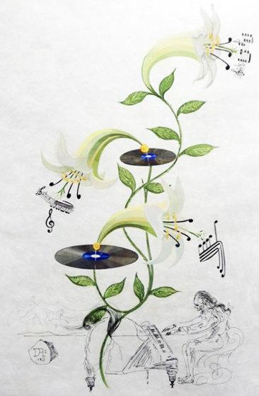 Flora Dalinae Lilium Musicum 1968 Limited Edition Print by Salvador Dali