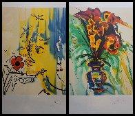 Fleurs Surréaliste Suite of 2 1980 Limited Edition Print by Salvador Dali - 4