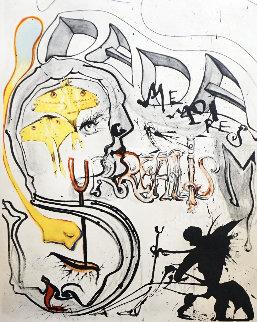 Memories of Surrealism: Angel of Dada Surrealism 1971 Limited Edition Print by Salvador Dali