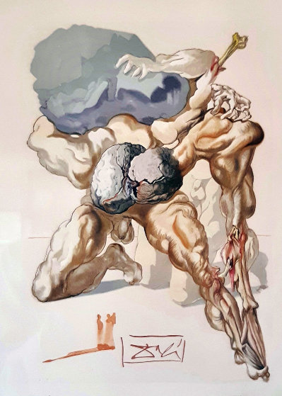 Atlas And Heracles Limited Edition Print by Salvador Dali