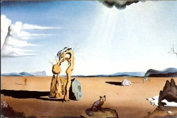 Savage Beasts in the Desert 1976 Limited Edition Print by Salvador Dali
