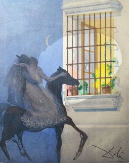 Carmen Suite: Carmen And Don Jose Fleeing on Horseback 1969 (Early) Limited Edition Print - Salvador Dali
