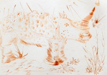 Album Rhinoceros 1968 (Early) Endangered Species Limited Edition Print by Salvador Dali
