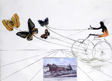 Currier & Ives: American Trotting Horse No. 1 1971 Limited Edition Print by Salvador Dali