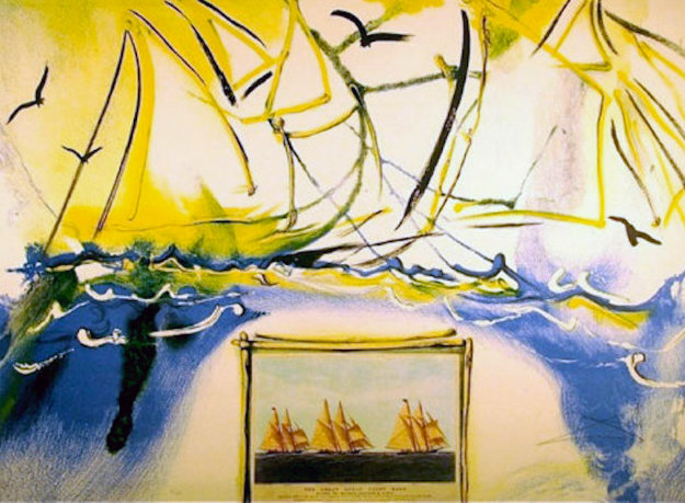 Currier and Ives American Yachting Scene 1971 Limited Edition Print by Salvador Dali