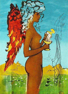 Love\'s Promise W/ Remarque 1976  Limited Edition Print - Salvador Dali