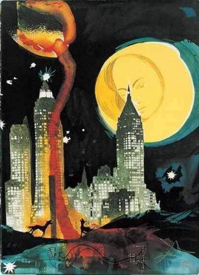 Manhattan Skyline 1976 Limited Edition Print by Salvador Dali
