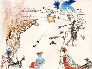 Burning Giraffe Suite: Surrealist Bullfight 1967 (Early) Limited Edition Print by Salvador Dali