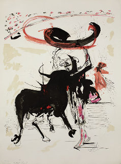 Bullfight I,  Suite of 5 Lithographs, 1966 (Early) Limited Edition Print - Salvador Dali