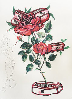Rosa E Morte 1972 Limited Edition Print - Salvador Dali