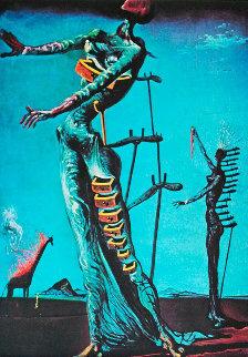 Burning Giraffe Limited Edition Print by Salvador Dali