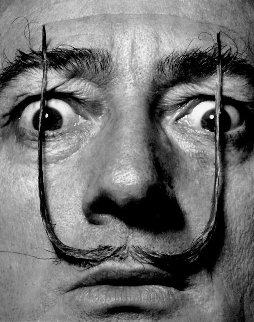 Dali's Mustache Photo by Phillipe Halsman Limited Edition Print - Salvador Dali
