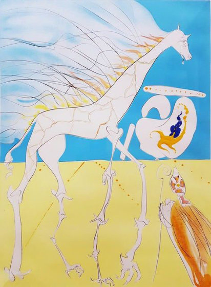 Saturnian Giraffe 1974 Limited Edition Print by Salvador Dali