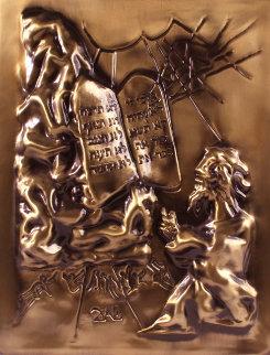 Moses And the Ten Commandments Bronze Sculpture 1979 26x20 Sculpture - Salvador Dali