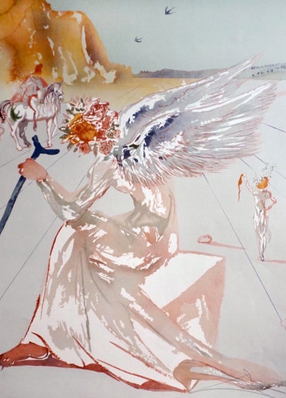 Hommage a Homere,   Suite of 2 Etchings 1977 Limited Edition Print by Salvador Dali