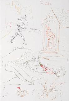 La Quete Du Graal: Combat Devant la Dame de Malehout 1975 Limited Edition Print - Salvador Dali