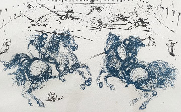 Combat of the Cavaliers Limited Edition Print - Salvador Dali