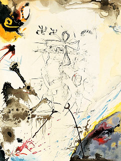 Moses and Monotheism Moses & Akhenaton 1975 Limited Edition Print by Salvador Dali