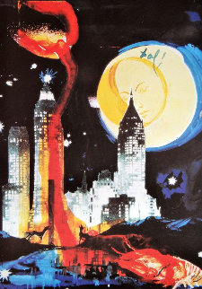 Manhattan Skyline 1976 Limited Edition Print - Salvador Dali