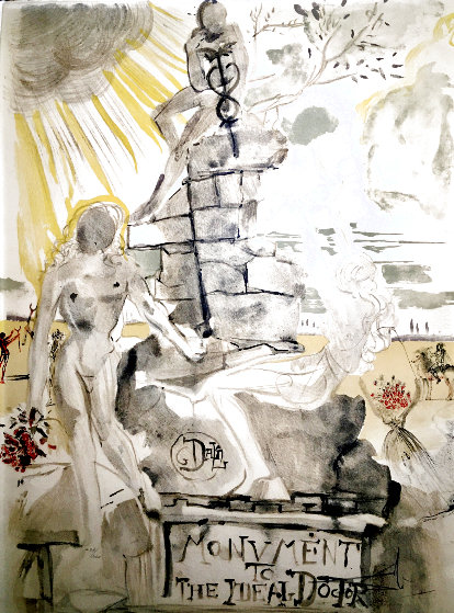 Monument to the Ideal Doctor 1973 Limited Edition Print by Salvador Dali