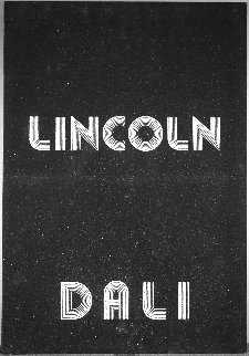 Lincoln in Dalivision Platinum Bas Relief 1979 28 in Sculpture - Salvador Dali