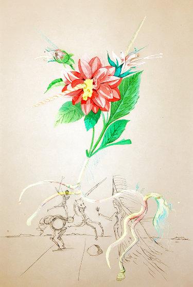Flora Dalinae: Dahlia Unicornis   1968 (Early) Limited Edition Print by Salvador Dali