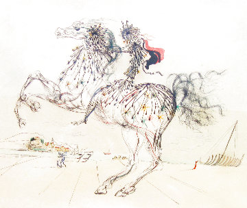Equestrian 1975 Limited Edition Print - Salvador Dali