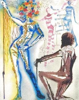 Fashion Designer: The Ballet of Flowers 1980 Limited Edition Print - Salvador Dali
