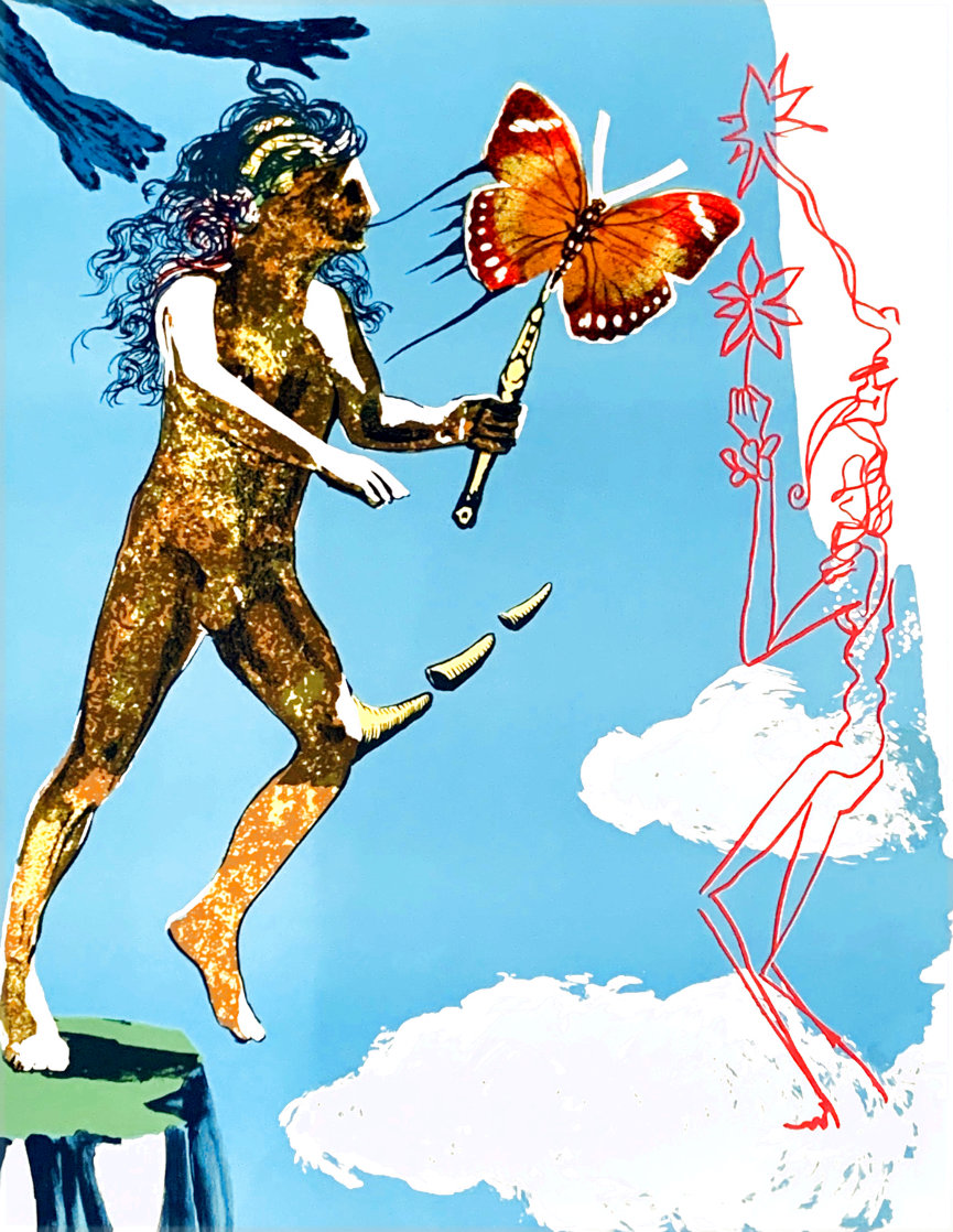 Magic Butterfly & the Dream: Release of the Psychic Spirit HC 1978 Limited Edition Print by Salvador Dali