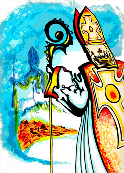 King Richard, From Ivanhoe HC 1977 Limited Edition Print by Salvador Dali