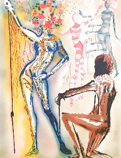 Fashion Designer: The Ballet of Flowers/Couturier 1980 Limited Edition Print - Salvador Dali