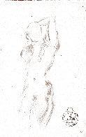 Etude Nu Féminin Du Face Drawing 1963 8x5 Drawing by Salvador Dali - 2