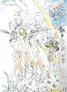 Le Jugement De Paris 1971 Limited Edition Print - Salvador Dali