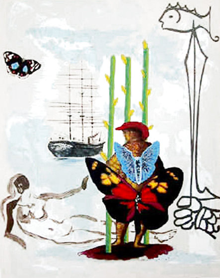 Dream of Freedom: Three of Staves 1978 Limited Edition Print by Salvador Dali