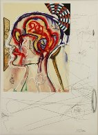 Imagine And Objects of the Future, 11 Prints Wtih Wooden Case  1975 Limited Edition Print by Salvador Dali - 2